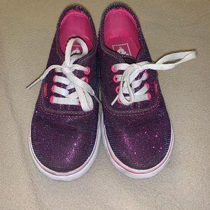 10C Purple Sparkly Vans